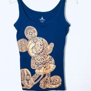 5 for $25 Mickey Mouse Tank Top Blue And Gold